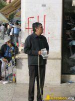 Sehbehinderter Losverkäufer am Rossio
