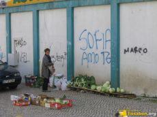 Gemüseverkauf auf der Straße als einzige oder zusätzliche Einnahmequelle